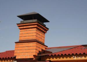 Констурукция дымохода из кирпича