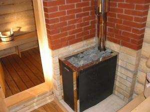 Установка печки в бане