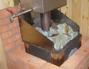 Технология облицовки металлической печи
