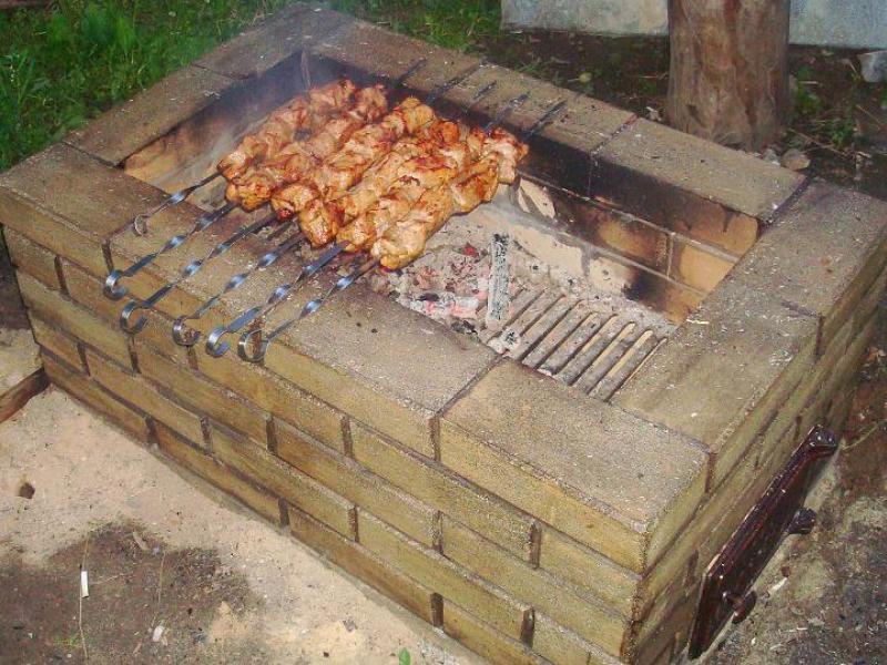 Печка барбекю своими руками фото