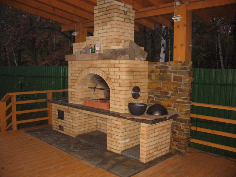 Печка для барбекю в беседке своими руками фото