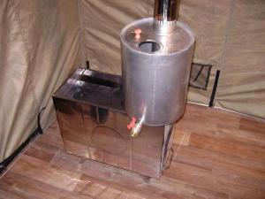 Описание недостатков банных печей с баком для воды на трубе