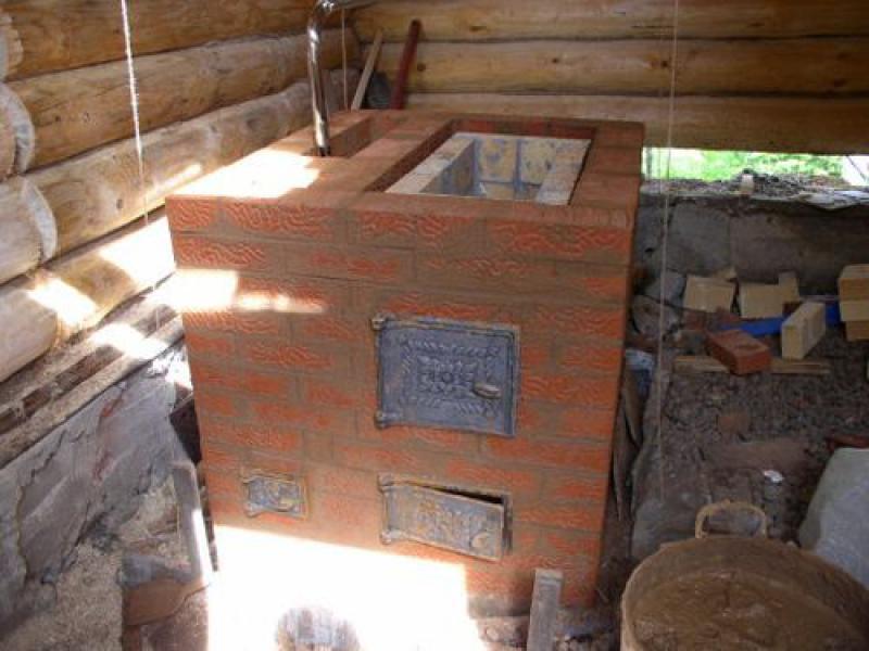 Кирпичная печка своими руками для дома чертежи