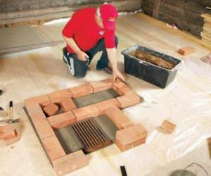 Описание процесса изготовления печи из кирпича своими руками