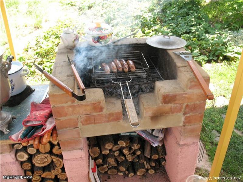 Печь для барбекю своими руками фото