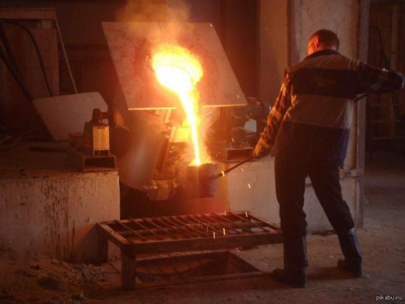 Печь для плавки алюминия