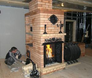 Печь в интерьере
