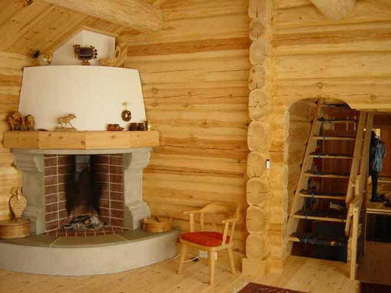 Угловые камины в деревянном доме своими руками