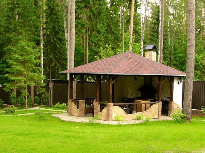 Обустройство зоны барбекю на дач дровяные камины дома