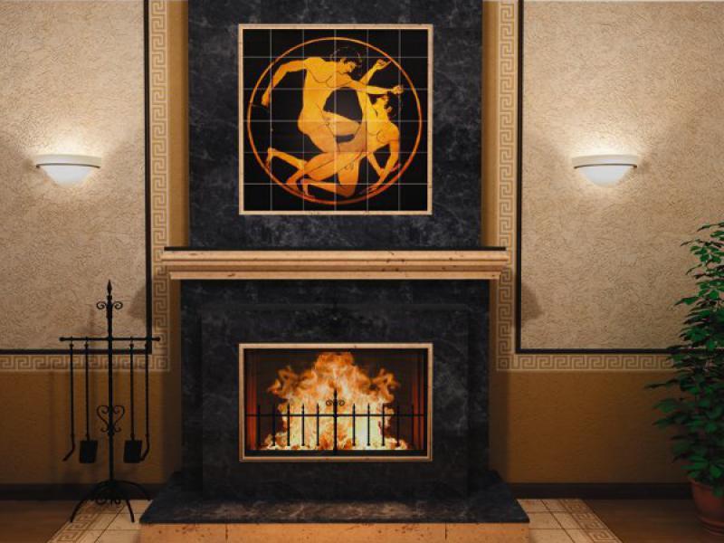 Fireplace ceramic tile