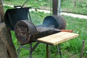 Использование мангала-барбекю