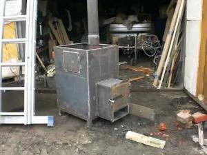 Печка в баню своими руками из железа фото