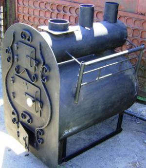 Банная печь из металла